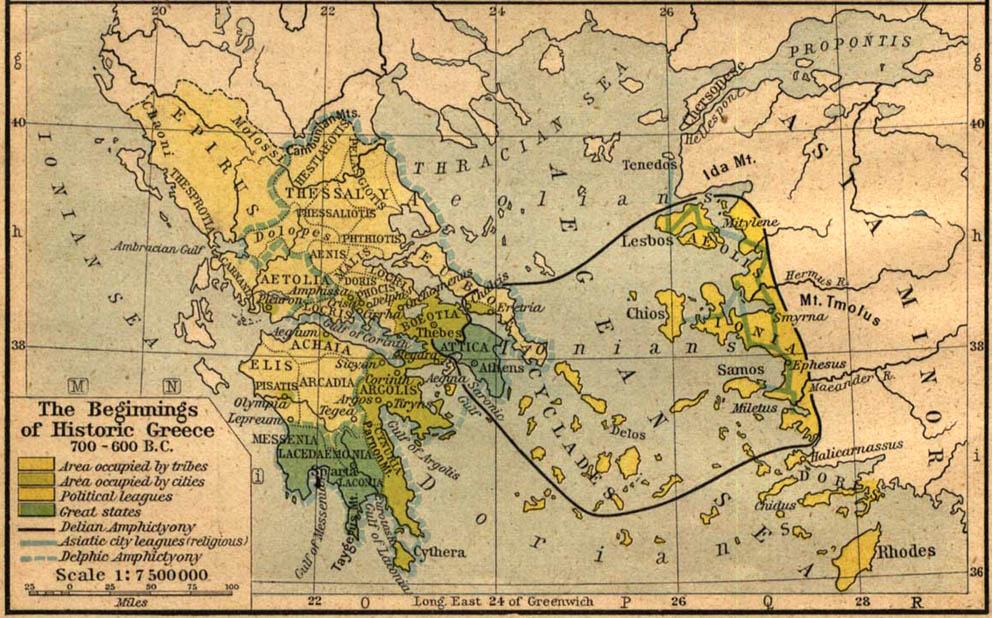 Cartes de la Grèce antique