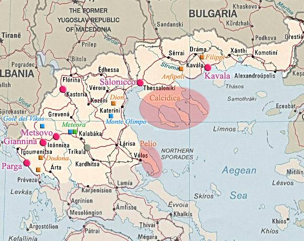 Cartina Nord.Cartina Turistica Del Nord Della Grecia