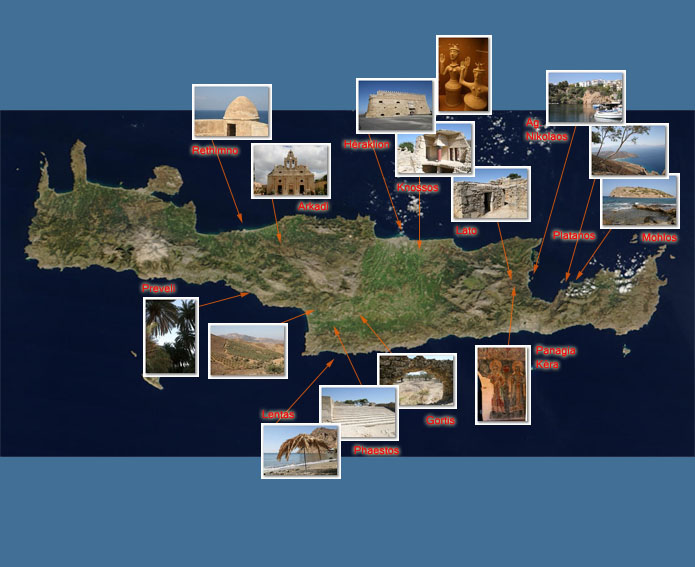 crete carte touristique