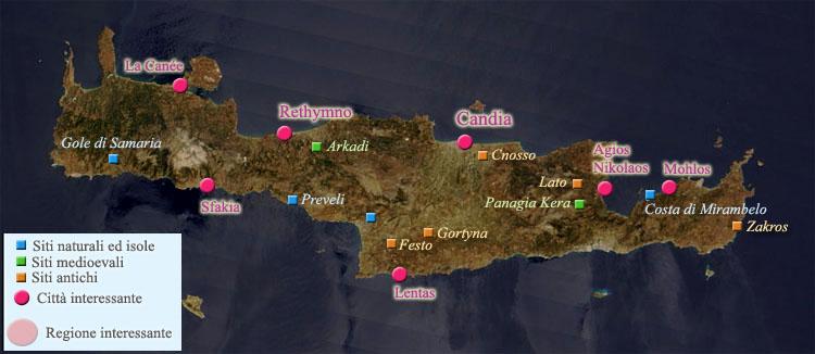Cartina Creta.Cartina Della Creta