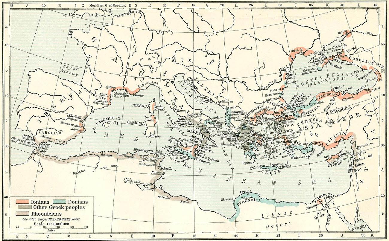 Cartina Storica Mediterraneo.Cartine Della Grecia Antica